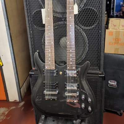 New Old Stock! Carlo Robelli Made In Korea Double Neck 6 String & 7 String Electric Guitar - Unique! for sale