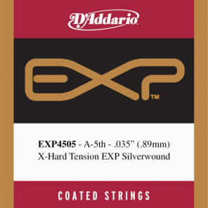 D'Addario EXP4505 Coated Classical  Guitar Single String Normal Tension Fifth String