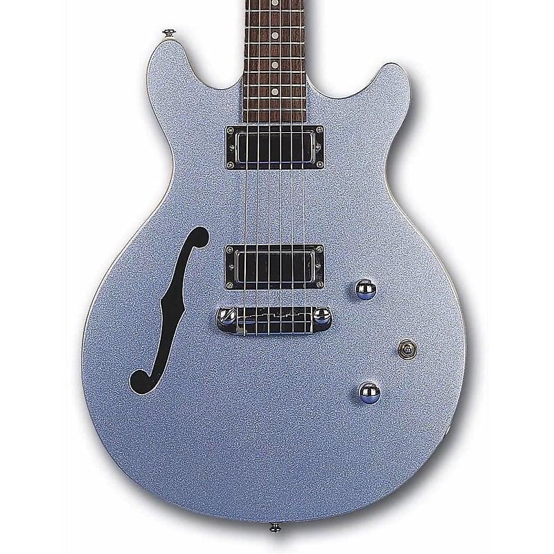 Daisy Rock DR6302 Stardust Retro-H Semi Hollow Electric Guitar Ice Blue Sparkle