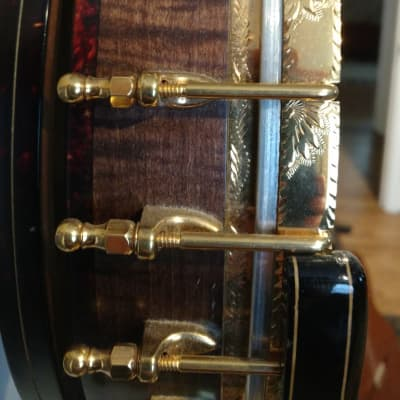 OME Custom Built  Eddy Davis  Zen Series Mogul tenor banjo  1986 Curly Maple/ Ebony/ hand stained / for sale