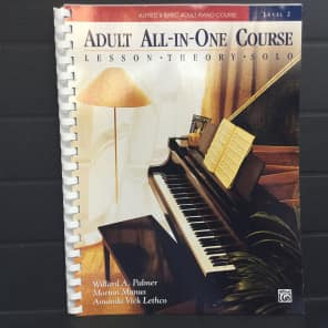 Alfred 00-14514 Alfred's Basic Adult All-In-One Piano Course (Level 2)