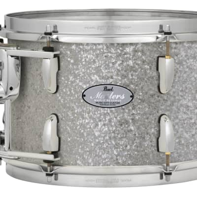 "Pearl Music City Custom 14""x12"" Masters Maple Reserve Series Tom Drum  w/optimount MRV1412F - Classic Silver Sparkle"