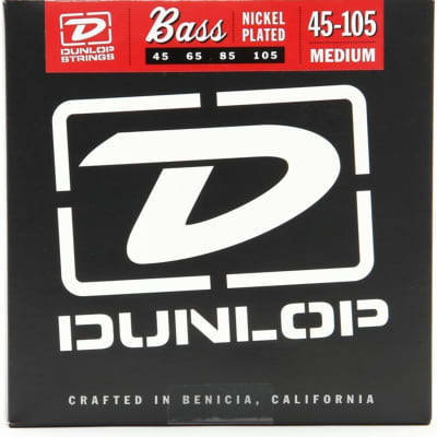 Dunlop DBN45105 Nickel Wound Bass Strings, Medium