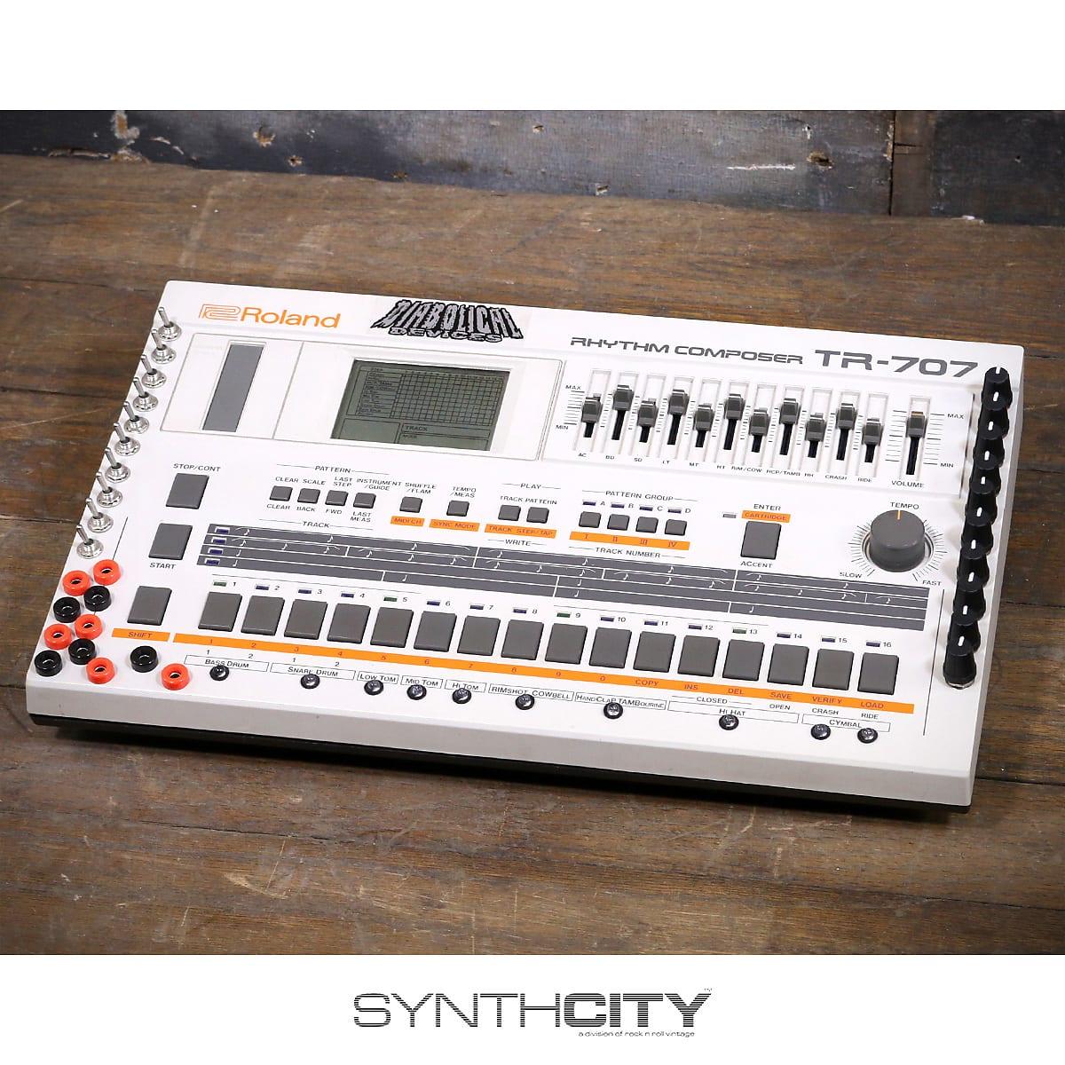 Roland TR-707 w/ Diabolical Devices Mods