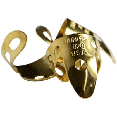 Dunlop Brass Fingerpicks .20mm 3-Pack