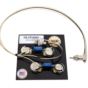 920D 50's Wiring Harness for Gibson Firebird Studio CTS Switchcraft PIO Paper In Oil