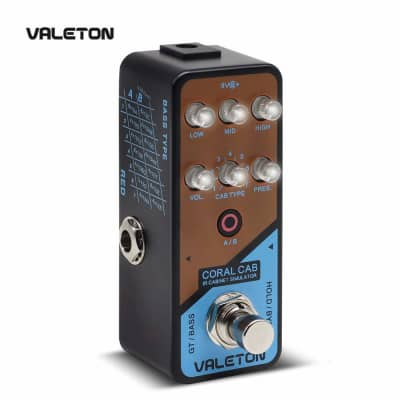 Valeton IR Cabinet Simulator Coral Cab of 28 Guitar Bass Cabs Throughout History of Rock N' Roll for