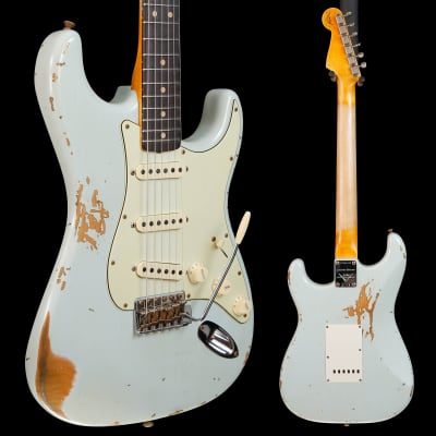 Fender Custom Shop Ltd 1963 Stratocaster Heavy Relic, Sonic Blue 437 7lbs 8.2oz