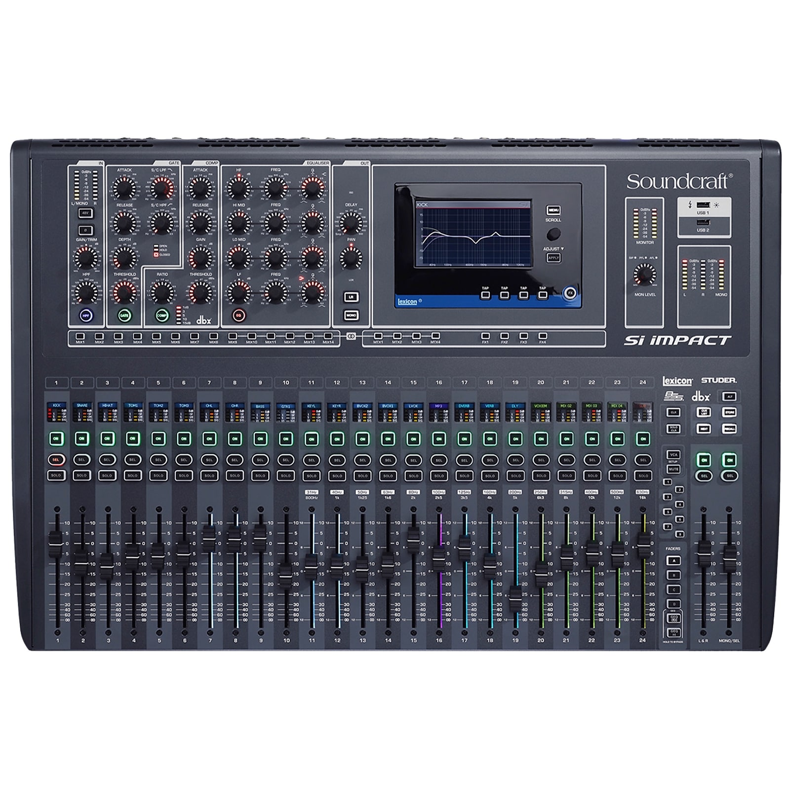 soundcraft si impact 32 channel digital mixer reverb. Black Bedroom Furniture Sets. Home Design Ideas