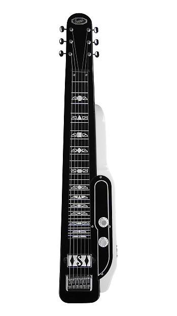 Supro 1466bw Jet Airliner Lapsteel With Gig Bag Tuxedo Reverb
