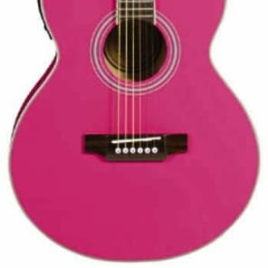 JB Player JBEA15 Bloom Acoustic-Electric Single-Cutaway Guitar - Pink for sale