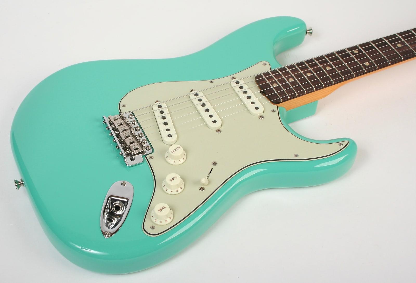Seafoam Green Stratocaster Electric Guitar Body 2 Piece American Alder