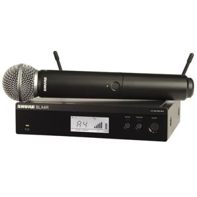 Shure BLX24R/SM58 Handheld Wireless System, Includes BLX4R Rack Mount Receiver, BLX2 Handheld Transmitter with SM58 Microphone, H9: 512.125-541.800MHz