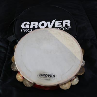 "GROVER PRO 10"" CUSTOM DRY DOUBLE-ROW HEAT-TREATED SILVER TAMBOURINE"