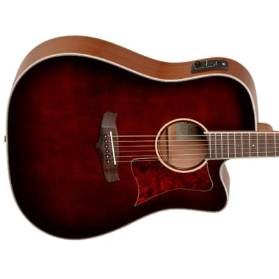 Tanglewood Acoustic / Electric cutaway dreadnought guitar in Whisky Barrel finish