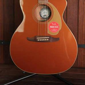 Fender California Player Newporter Acoustic Guitar Rustic Copper for sale