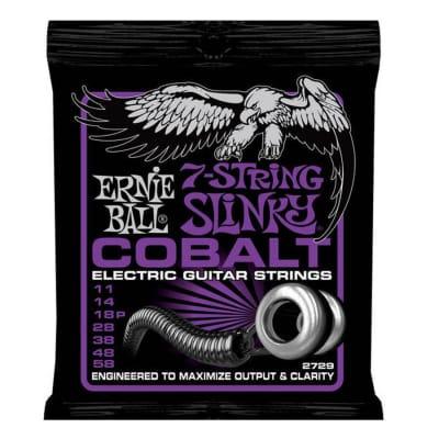 Ernie Ball 2729 Cobalt Power Slinky 11-58 7 Strings