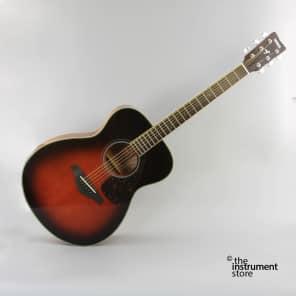 Yamaha FS720S-TBS Solid Spruce Top Folk Acoustic Guitar Tobacco Brown Sunburst
