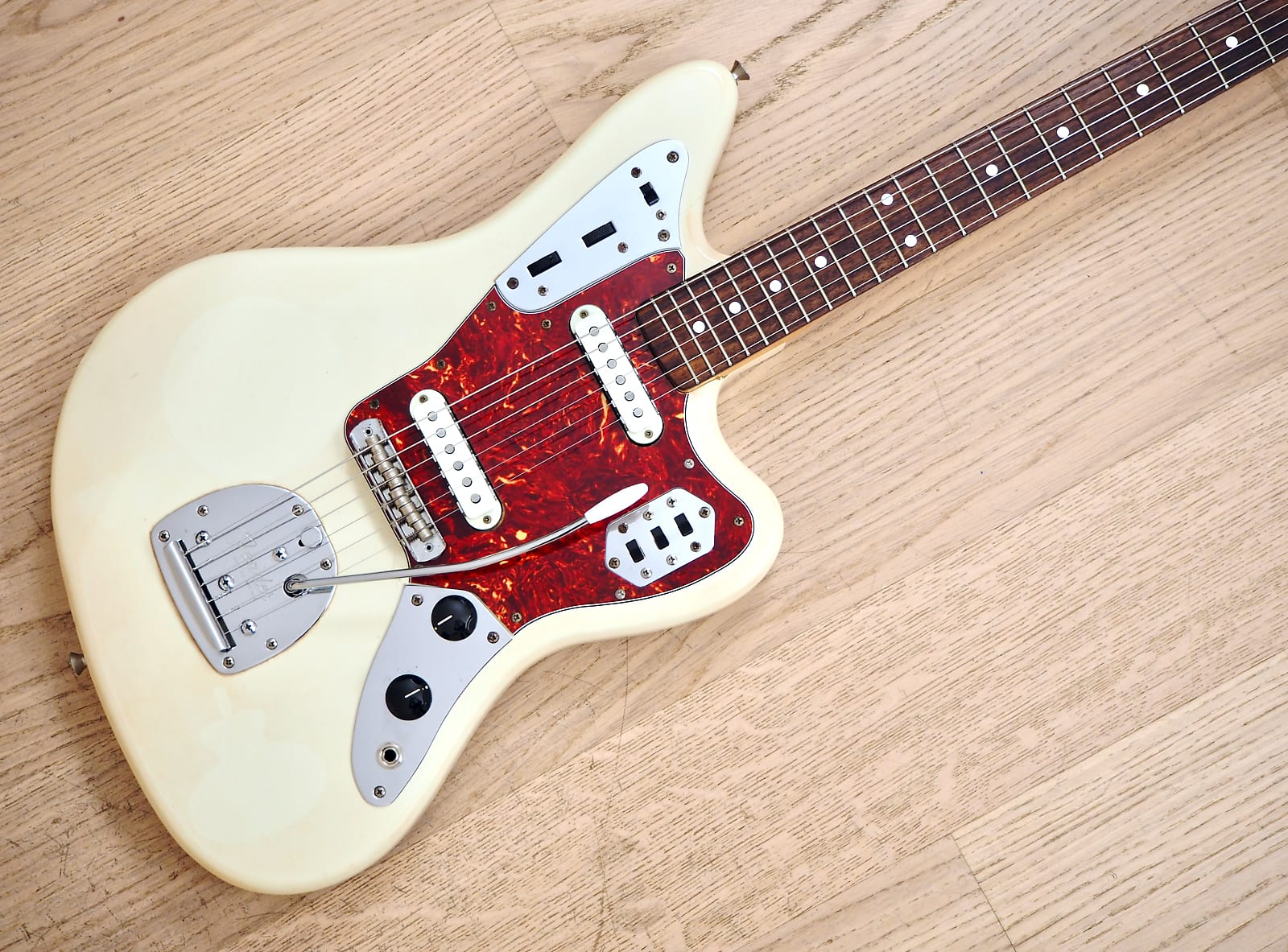 1996 Fender Jaguar '62 Vintage Reissue Olympic White w/ USA Pickups &  Harness, Japan CIJMike & Mike's Guitar Bar