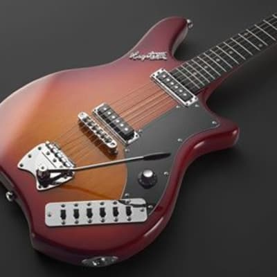 Hagstrom IMP-CSB Impala Retroscape Series Double Cutaway Mahogany Neck 6-String Electric Guitar for sale