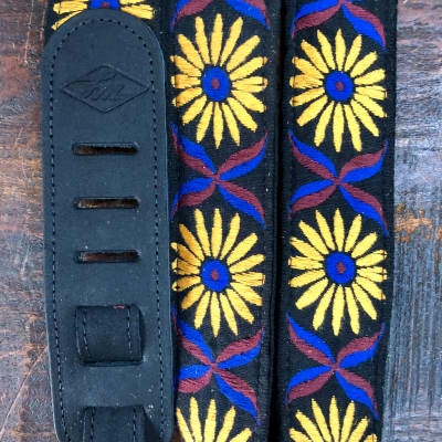 LM Sunflower Pattern Guitar Strap AN-3ST