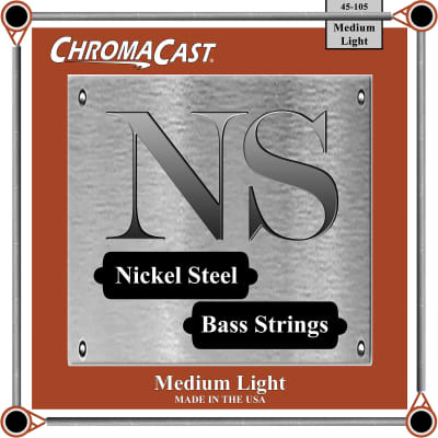 ChromaCast Nickel Steel Bass Guitar Strings, 45-105, Medium Light