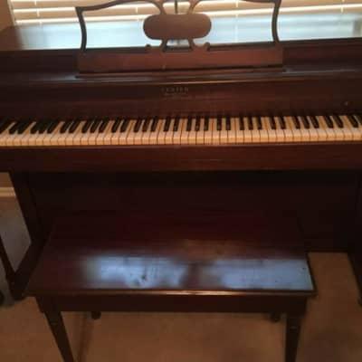 Lester  Betsy Ross Spinet Piano  Mahogany