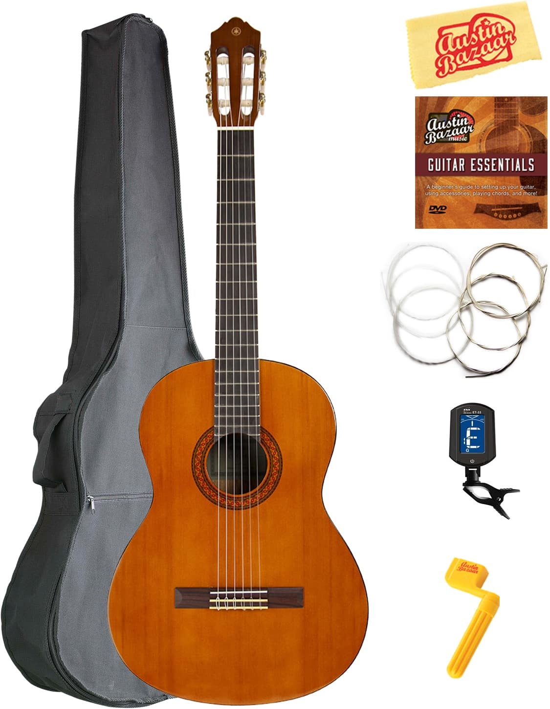 Yamaha c40 classical guitar w gig bag austin bazaar for Yamaha classic guitar