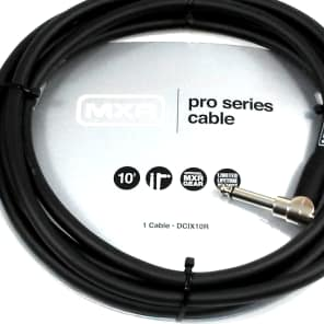 Instrument Guitar Cable  MXR 10 feet ~3m Right Angle End Lifetime Warranty