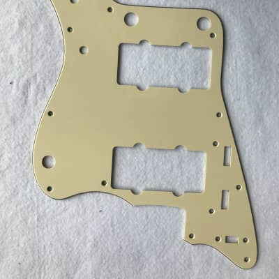 For Japan Jazzmaster Guitar Pickguard , 3 Ply Vintage Yellow