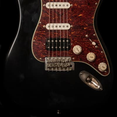LSL Saticoy One B Black Electric Guitar - Baked Maple Neck for sale