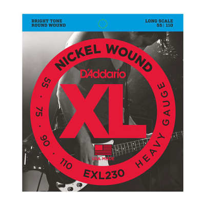 D'Addario EXL230 Nickel Wound Bass String Heavy 55-110 Long Scale
