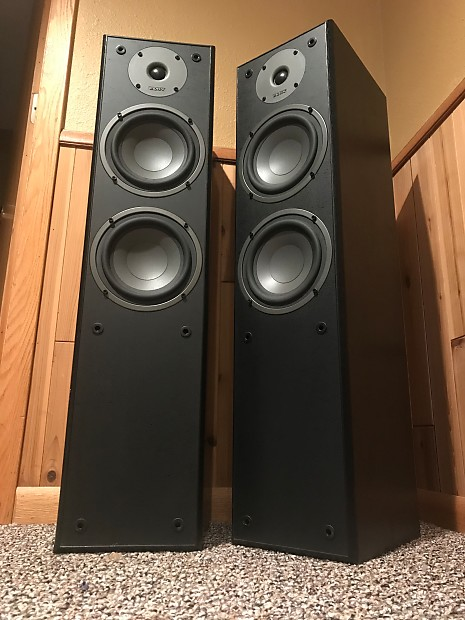 advent as2 dual 6 driver two way tower speakers black. Black Bedroom Furniture Sets. Home Design Ideas