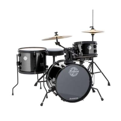 New Ludwig Pocket Kit by Questlove 4-Piece Drum Kit w/Hardware Black Sparkle
