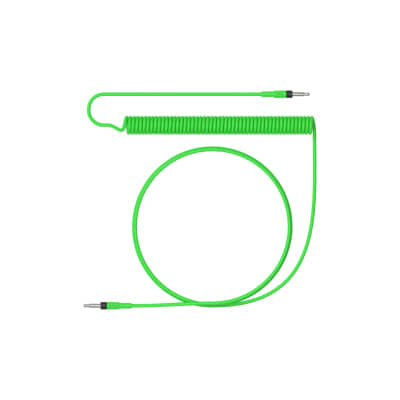 Teenage Engineering audio cable curly 1200 mm neon green