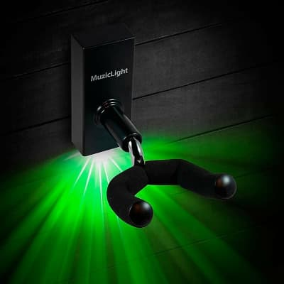 Osiamo MuzicLight Guitar/Bass Wall Hanger with Green LED's