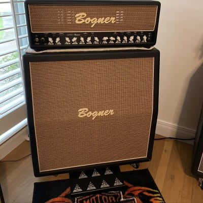 Bogner Ecstasy 101B Class A/AB Amp All Options Plus Matching 4 12 Cab In Wheat and Janal Road Case for sale