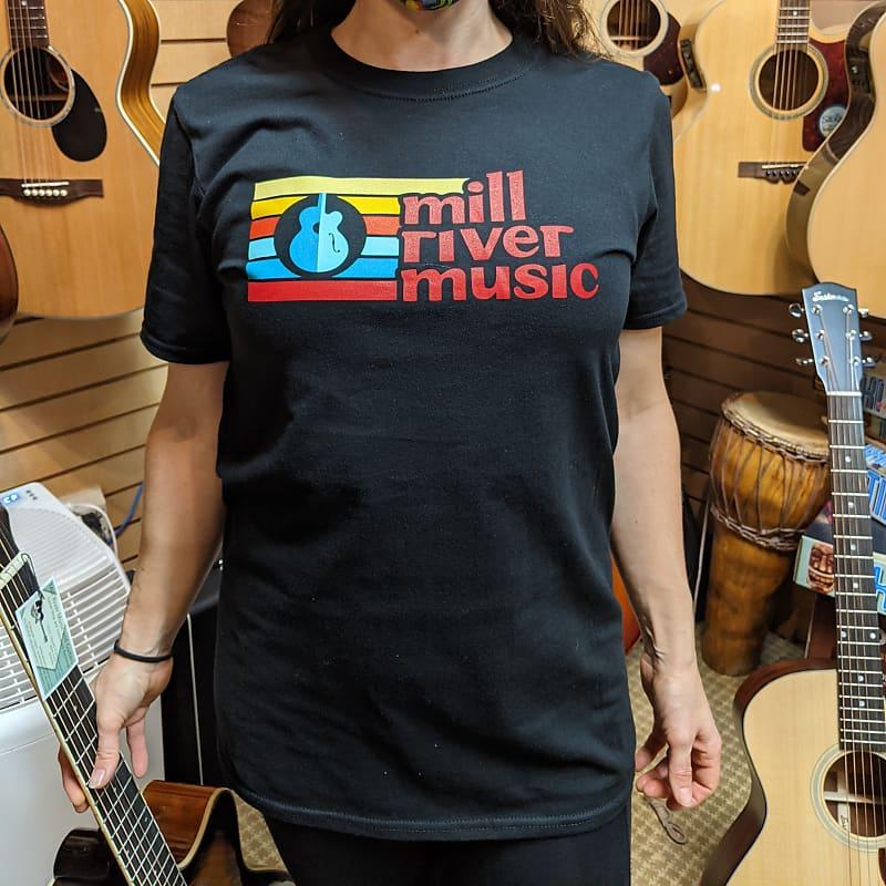 Mill River Music T-Shirt 1st Edition Main Logo Unisex Black Small