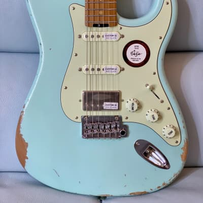 Shijie Guitar STE Relic SSH Stainless 2021 Daphne Blue (Sold) Pre Order Only for sale