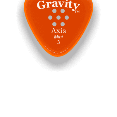 Gravity Picks Axis Mini 3mm Orange Acrylic <GAXM3PM>