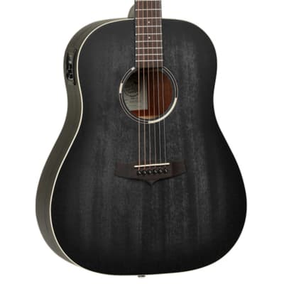 Tanglewood Blackbird Series TWBBSDE Slope Shoulder Dreadnaught - Smokestack Black Satin for sale