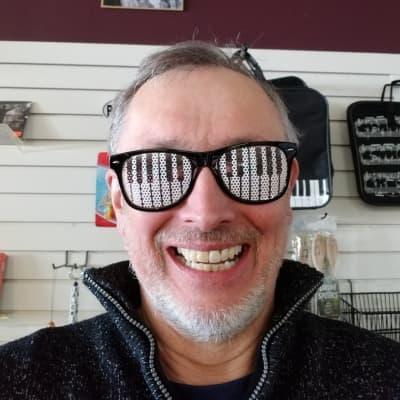 Paul Breitenbach Cool Piano Keyboard Glasses  Keyboard