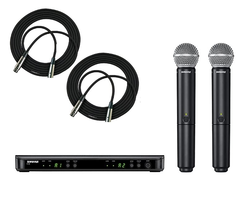 Shure BLX288/SM58 Wireless Dual Vocal System with two SM58  - Freq. H10 2019
