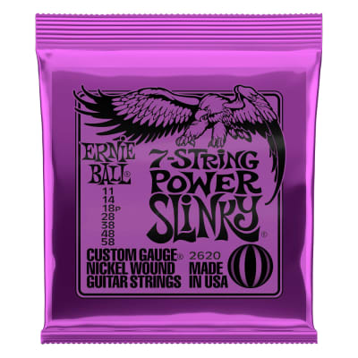 Ernie Ball Electric 7-String Power Slinky Guitar Strings