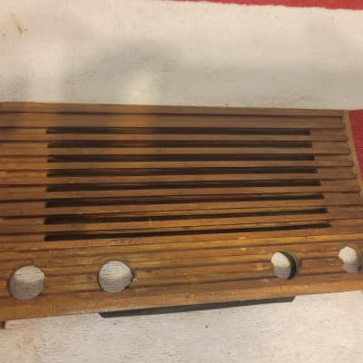 Emerson 6 Tube Radio Tested and Works Front Wooden Grill Included