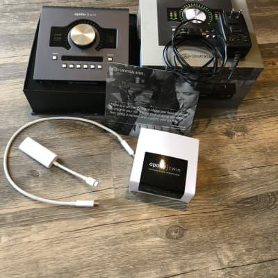 Universal Audio Apollo Twin QUAD MKII Thunderbolt Audio Interface w/ FREE MAC THUNDERBOLT CABLE / Adapter