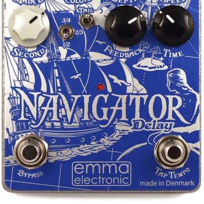 EMMA Electronic Navigator 1000ms Delay + modulation, beat-splits, trails, wet/dry outputs, tap tempo