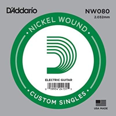 D'Addario NW080 Nickel Wound Single Guitar String .080