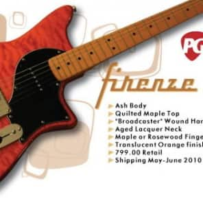 Hanson Firenze T90 - Translucent Orange with Beautiful Quilted Maple Top for sale