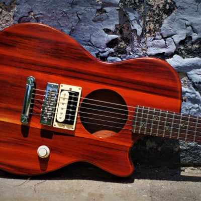 RETROVERB LP Semi Acoustic Electric 2019 Honey Amber.  Unique.  Handmade Custom. Only one.  RARE. for sale